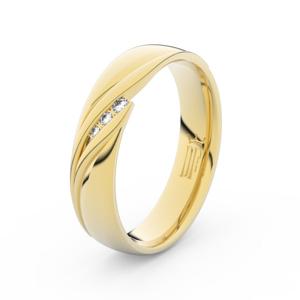 Zlatý dámský prsten DF 3044 ze žlutého zlata, s briliantem 71