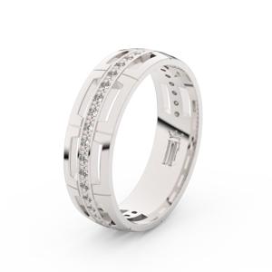 Zlatý dámský prsten DF 3048 z bílého zlata, s brilianty 53