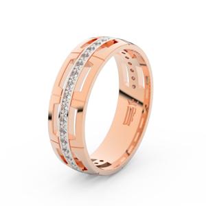 Zlatý dámský prsten DF 3048 z růžového zlata, s briliantem 63