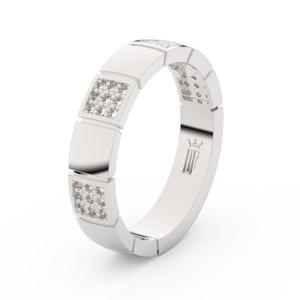 Zlatý dámský prsten DF 3057 z bílého zlata, s brilianty 47