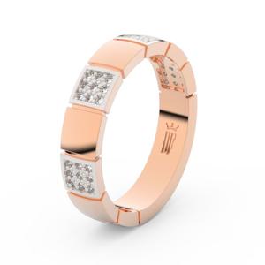 Zlatý dámský prsten DF 3057 z růžového zlata, s briliantem 60