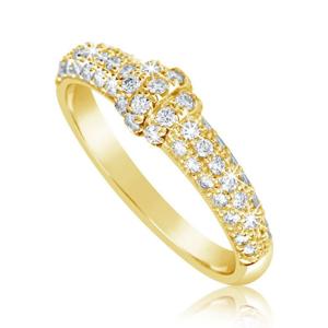 Zlatý dámský prsten DF 3190 ze žlutého zlata, s briliantem