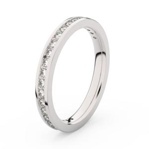 Zlatý dámský prsten DF 3893 z bílého zlata, s briliantem 51
