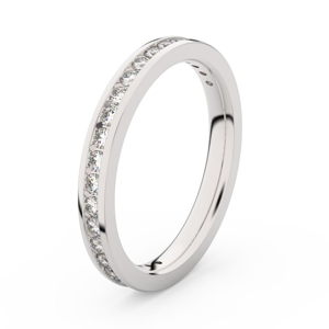 Zlatý dámský prsten DF 3893 z bílého zlata, s briliantem 69
