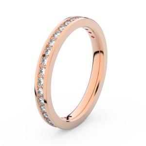 Zlatý dámský prsten DF 3893 z růžového zlata, s briliantem 46