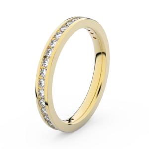 Zlatý dámský prsten DF 3893 ze žlutého zlata, s briliantem 65