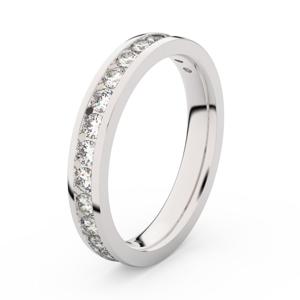 Zlatý dámský prsten DF 3894 z bílého zlata, s briliantem 67