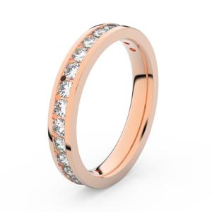 Zlatý dámský prsten DF 3894 z růžového zlata, s briliantem 54