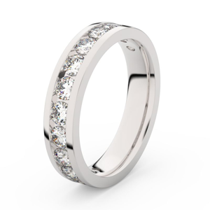 Zlatý dámský prsten DF 3895 z bílého zlata, s briliantem 56