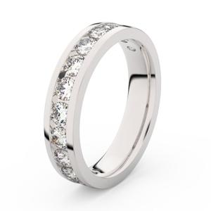 Zlatý dámský prsten DF 3895 z bílého zlata, s briliantem 59