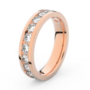 Zlatý dámský prsten DF 3895 z růžového zlata, s briliantem 56