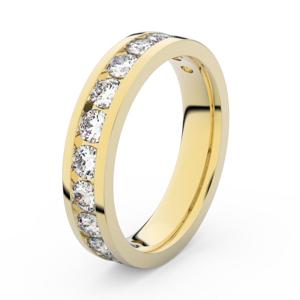 Zlatý dámský prsten DF 3895 ze žlutého zlata, s brilianty 69