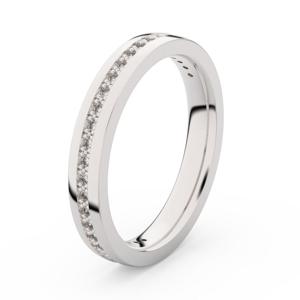 Zlatý dámský prsten DF 3896 z bílého zlata, s briliantem 51
