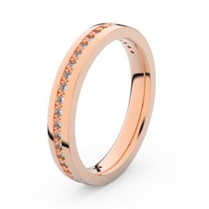 Zlatý dámský prsten DF 3896 z růžového zlata, s briliantem 71