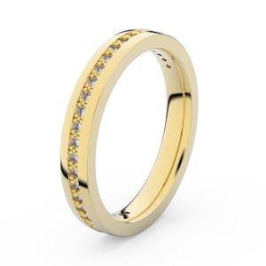 Zlatý dámský prsten DF 3896 ze žlutého zlata, s briliantem 57