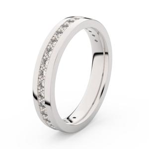 Zlatý dámský prsten DF 3897 z bílého zlata, s briliantem 55