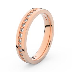 Zlatý dámský prsten DF 3897 z růžového zlata, s briliantem 47