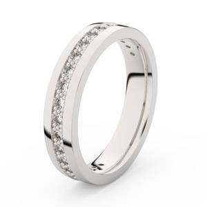 Zlatý dámský prsten DF 3898 z bílého zlata, s briliantem 61