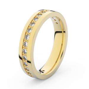 Zlatý dámský prsten DF 3898 ze žlutého zlata, s briliantem 53