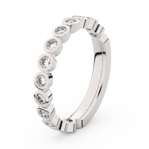 Zlatý dámský prsten DF 3900 z bílého zlata, s briliantem 51
