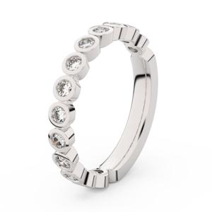 Zlatý dámský prsten DF 3900 z bílého zlata, s briliantem 59