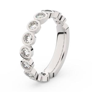 Zlatý dámský prsten DF 3901 z bílého zlata, s briliantem 58