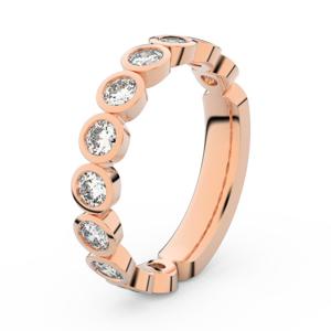 Zlatý dámský prsten DF 3901 z růžového zlata, s briliantem 64