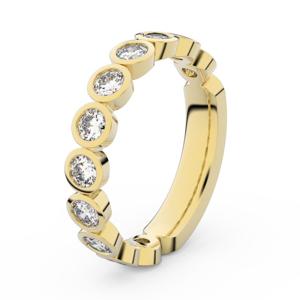 Zlatý dámský prsten DF 3901 ze žlutého zlata, s briliantem 56