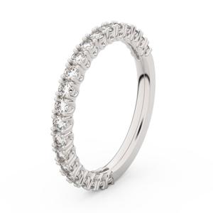 Zlatý dámský prsten DF 3902 z bílého zlata, s briliantem 53