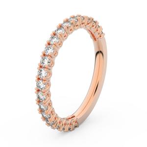 Zlatý dámský prsten DF 3902 z růžového zlata, s briliantem 63