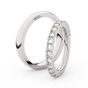Zlatý dámský prsten DF 3903 z bílého zlata, s briliantem 52