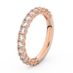 Zlatý dámský prsten DF 3903 z růžového zlata, s briliantem 56