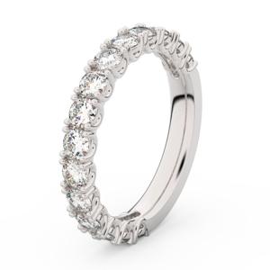 Zlatý dámský prsten DF 3904 z bílého zlata, s briliantem 58
