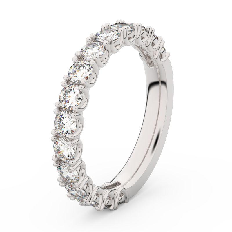 Zlatý dámský prsten DF 3904 z bílého zlata, s briliantem 66