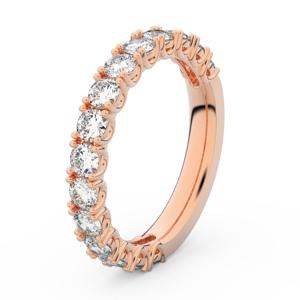 Zlatý dámský prsten DF 3904 z růžového zlata, s briliantem 56