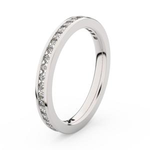 Zlatý dámský prsten DF 3906 z bílého zlata, s briliantem 49