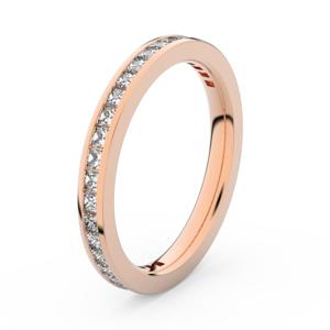Zlatý dámský prsten DF 3906 z růžového zlata, s briliantem 67