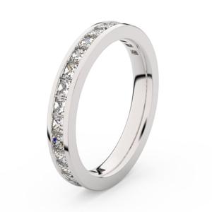 Zlatý dámský prsten DF 3907 z bílého zlata, s briliantem 62