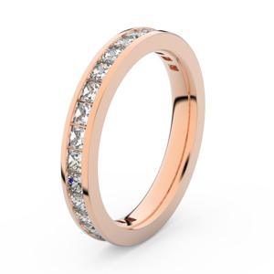 Zlatý dámský prsten DF 3907 z růžového zlata, s briliantem 52