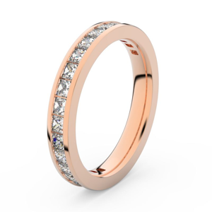 Zlatý dámský prsten DF 3907 z růžového zlata, s briliantem 62