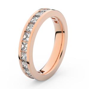 Zlatý dámský prsten DF 3908 z růžového zlata, s briliantem 63