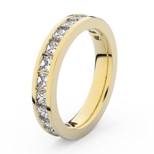 Zlatý dámský prsten DF 3908 ze žlutého zlata, s briliantem 61