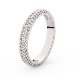Zlatý dámský prsten DF 3911 z bílého zlata, s briliantem 51