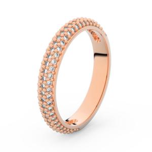Zlatý dámský prsten DF 3911 z růžového zlata, s briliantem 49