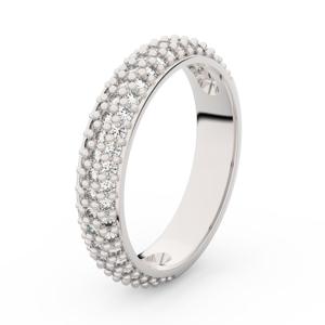 Zlatý dámský prsten DF 3912 z bílého zlata, s briliantem 58