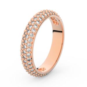 Zlatý dámský prsten DF 3912 z růžového zlata, s briliantem 62