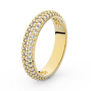 Zlatý dámský prsten DF 3912 ze žlutého zlata, s briliantem 62
