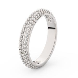 Zlatý dámský prsten DF 3918 z bílého zlata, s briliantem 51