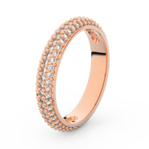 Zlatý dámský prsten DF 3918 z růžového zlata, s briliantem 60