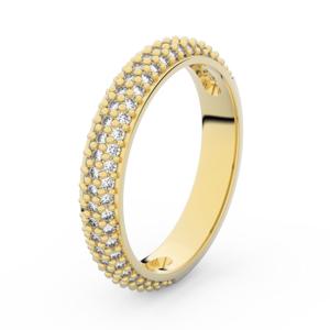 Zlatý dámský prsten DF 3918 ze žlutého zlata, s briliantem 49